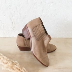 Madewell Tan Leather Ankle Boots - Sz 8.5